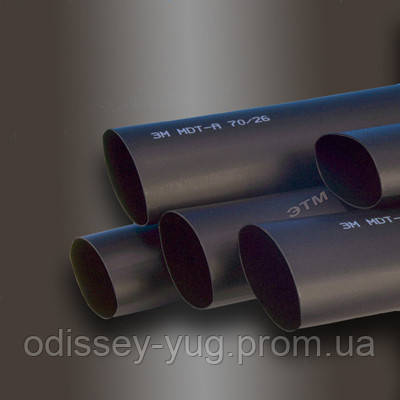 Термоусаживаемые трубки 3М Серии MDT-A 27/8 С клеевым слоем 1 метр Черная