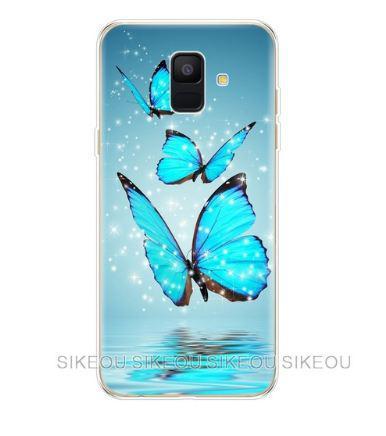Чохол накладка з картинкою для Samsung A600f Galaxy A6-2018 Три метелики