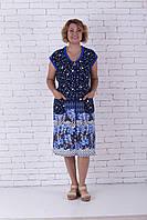 Женский летний халат горошки большой размер, фото 1