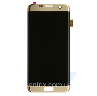 Дисплей (экран) для Samsung G935F Galaxy S7 Edge + тачскрин, цвет золотистый, оригинал