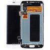 Дисплей (экран) для Samsung G925F Galaxy S6 Edge + тачскрин, цвет белый, White Pearl, оригинал