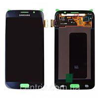 Дисплей (экран) для Samsung G920F Galaxy S6 + тачскрин, цвет синий, Black Sapphire, оригинал