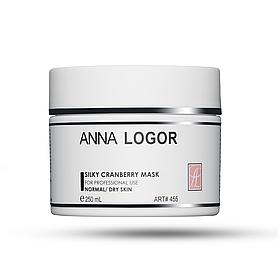 Маска шелковая увлажняющая с экстрактом клюквы Anna LOGOR Silky Cranberry Mask 250 ml Art.455