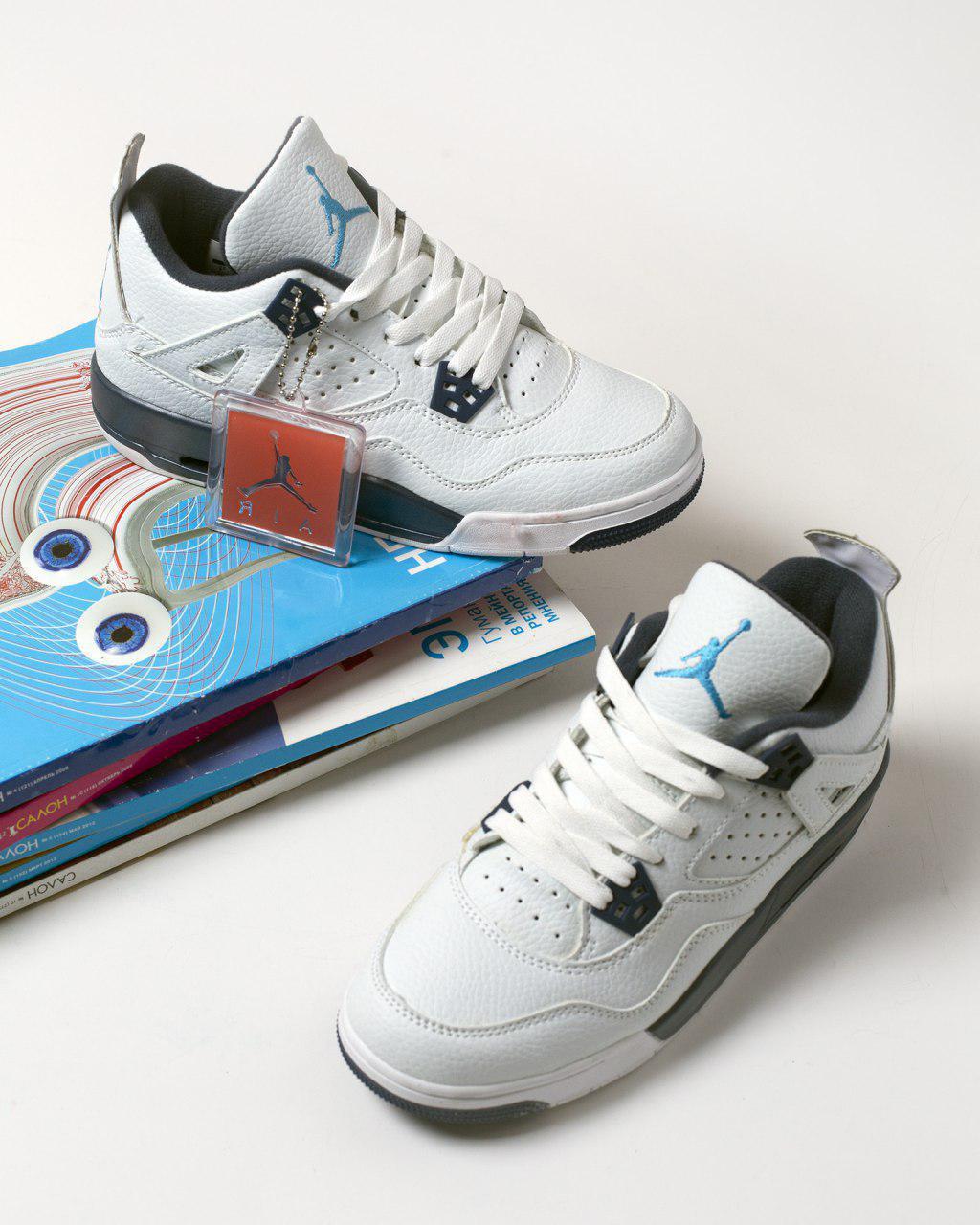 98f8f45b6900 NIke Air Jordan 4 Retro Legend Blue   женские кроссовки  белые  кожаные