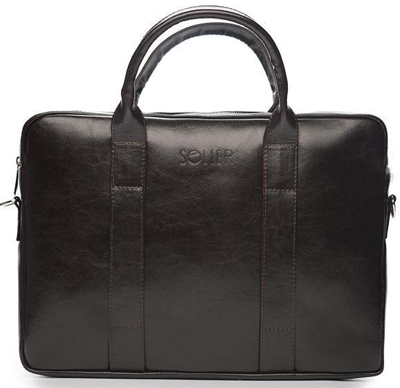 Мужская сумка для ноутбука 15,4' Solier SL20 Brown