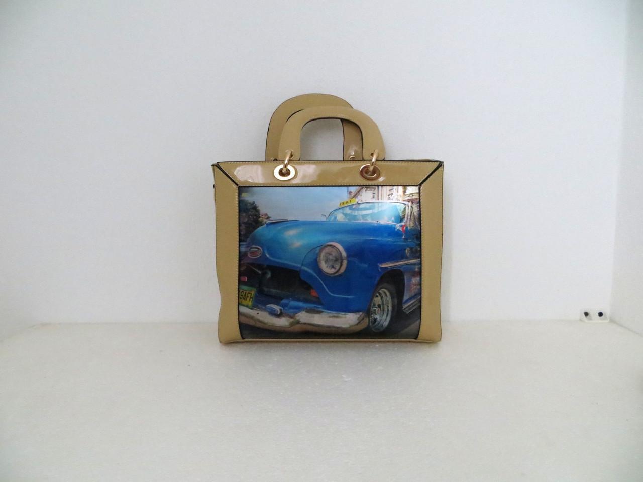 Красивая женская 3D сумка. Эко-кожа. Италия.