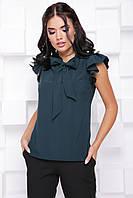 Элегантная деловая женская блуза с воротником бант 7061/10, фото 1