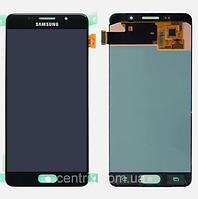 Дисплей (екран) для Samsung A510F Galaxy A5 (2016) + тачскрін, колір чорний, оригінал