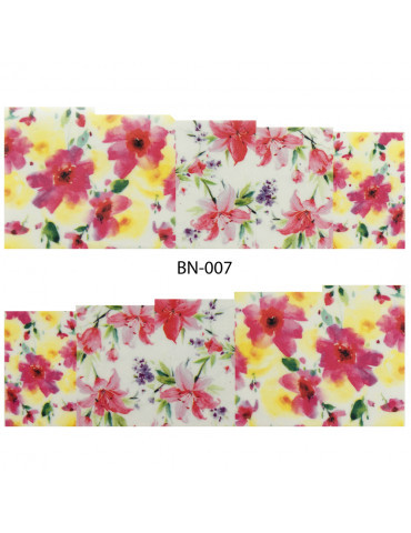 Слайдер-дизайн для ногтей BN-007 6.2*5.2 см