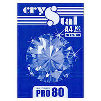 Бумага офисная Crystal PRO 80 A4 80г/м2, 100 л класс С+