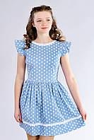 Подростковое платье в горошек