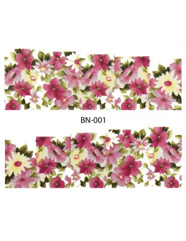 Слайдер-дизайн для ногтей BN-001 6.2*5.2 см