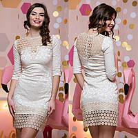 4d9f765a804 Женское платье бежевое с кружевом в Украине. Сравнить цены