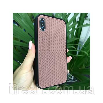 Чехол силиконовый подошва VANS для iPhone X/XS brown