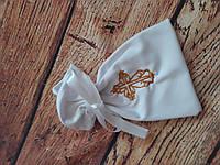 Мешочек для локонов для крещения ребенка с вышивкой
