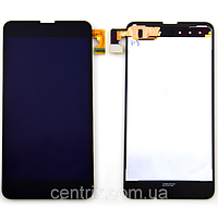 Дисплей (экран) для Nokia 630 Lumia, 635, 636, 638 + тачскрин, цвет черный, оригинал