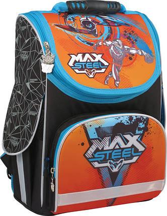 Рюкзак школьный каркасный 11 л Max Steel, KITE (Германия), фото 2