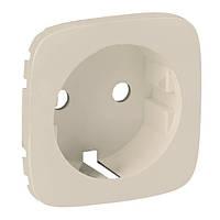 Лицевая панель розетки 2К+3 с защитными шторками и безвинтовыми зажимами Valena Allure Legrand, слоновая кость