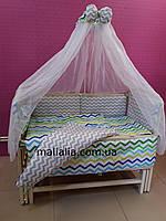 Комплект детского постельного белья Волны Bepino Хлопок