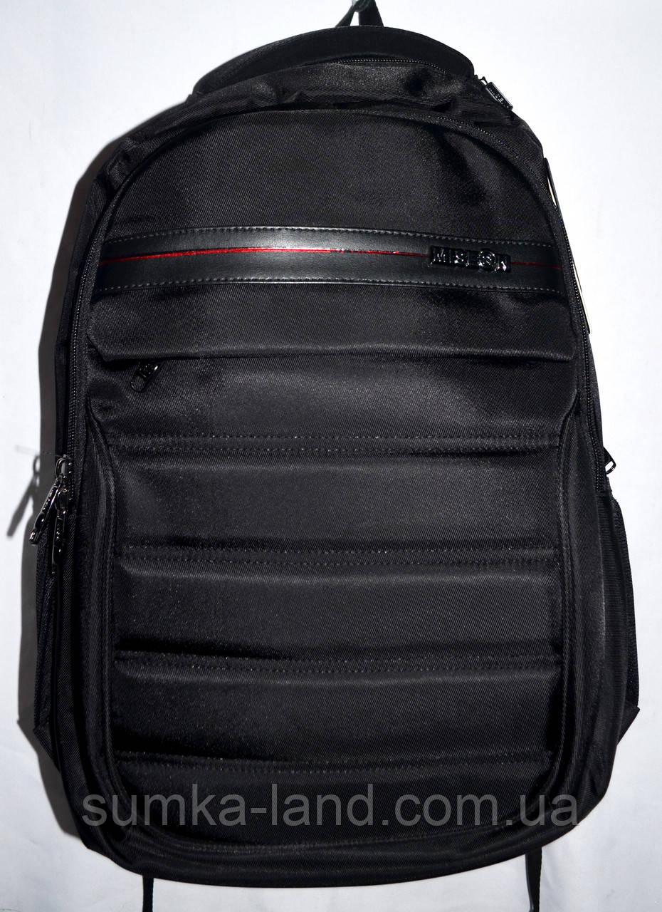 Мужской черный текстильный рюкзак хорошего качества 33*48 см
