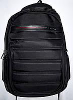 Мужской черный текстильный рюкзак хорошего качества 33*48 см, фото 1