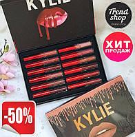 РАСПРОДАЖА! Набор жидких матовых помад Kylie Short Lip 12 в 1
