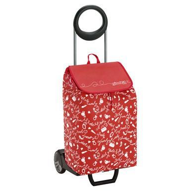 Сумка-тележка хозяйственая на колесах 50л EASY – красная