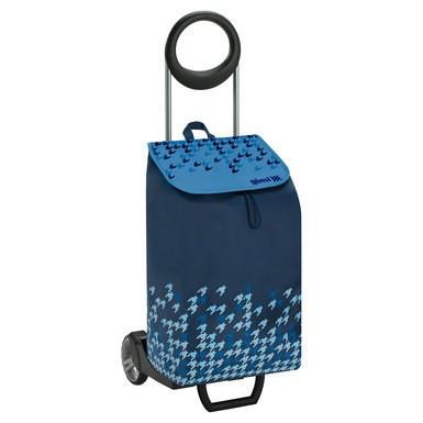 Сумка-тележка хозяйственая на колесах 50л IDEAL – голубая