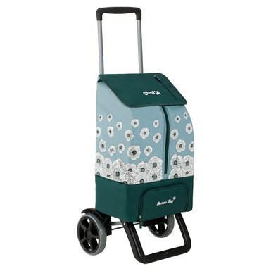 Сумка-тележка хозяйственая на колесах 50л KANGOO THERMO - зеленая