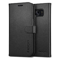 Книжка-Чехол Spigen для Samsung S7 Edge Wallet S, Black  , фото 1