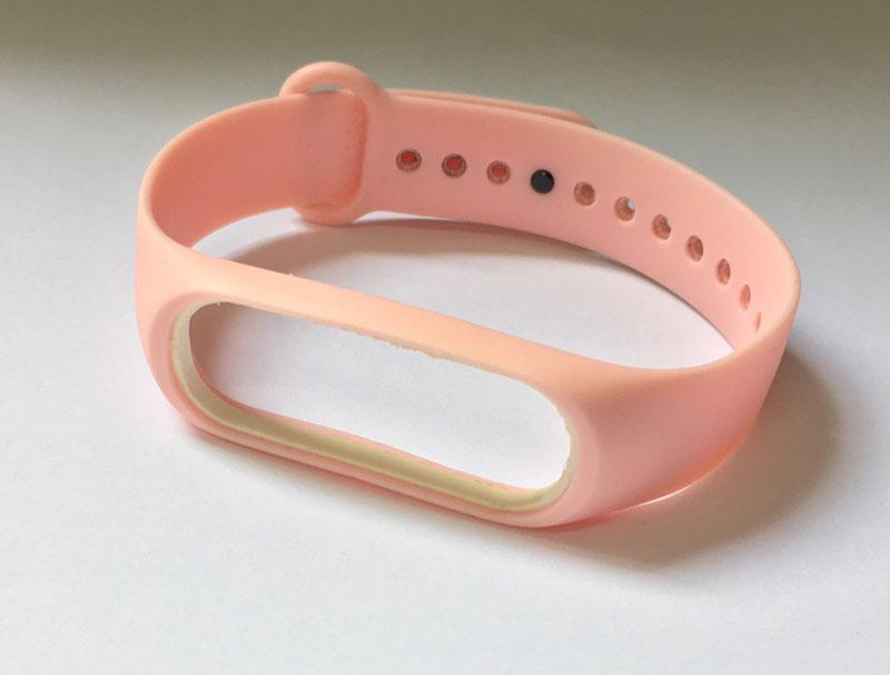 Силіконовий ремінець Primo для фітнес-браслета Xiaomi Mi Band 3 - Light Pink