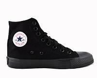 "Кеды Converse All Star Chuck Taylor High ""Night Black""  (Копия ААА+)"