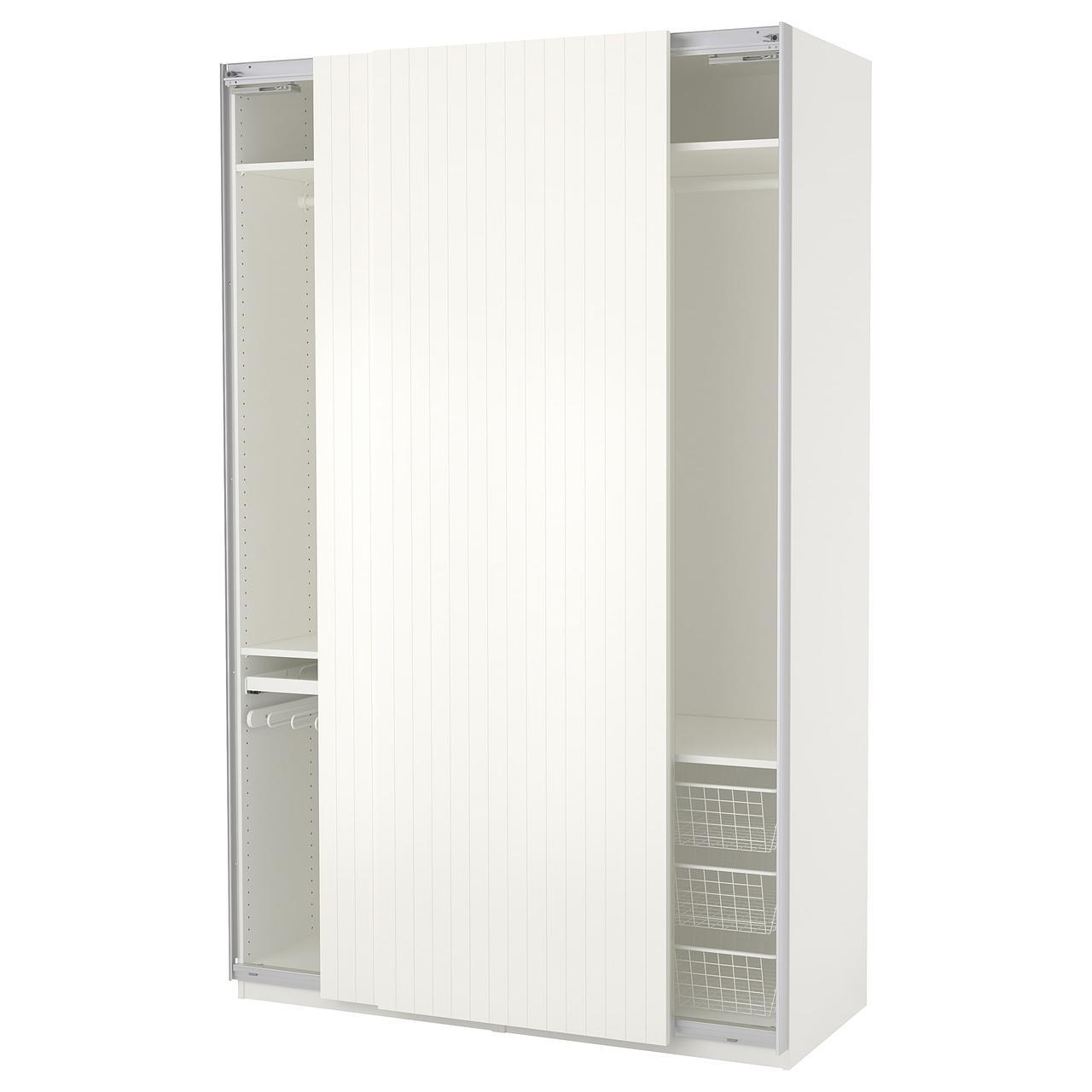 Шкаф-купе IKEA PAX 150x66x236 см Svorkmo белый в полоску 192.471.29