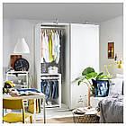 Шкаф-купе IKEA PAX Hasvik белый 392.190.45, фото 4