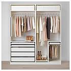 Шкаф-купе IKEA PAX Hokksund белый глянец светло-бежевый 392.650.56, фото 3