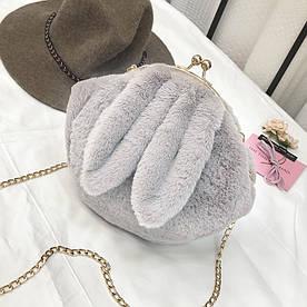 Молодежная меховая сумочка Ушки Кролика