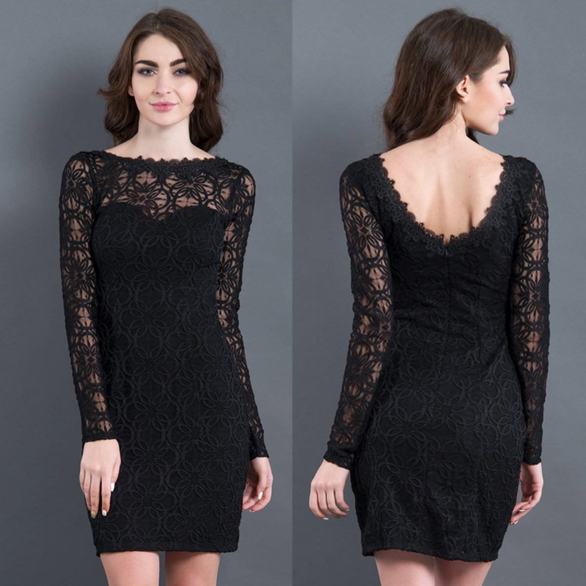 "Чорне вбрання гіпюрову сукню ""Сюзана лайт"""