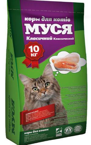 "Корм для кошек ""Муся"" классик, 10кг"