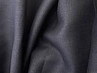 Льняная плотная скатертная ткань, черного цвета (шир. 150 см)