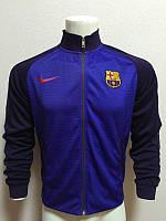 Олимпийка футбольная Барселона темно-синяя