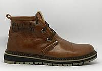 Ботинки мужские зимние Clarks 0926 рыжие реплика