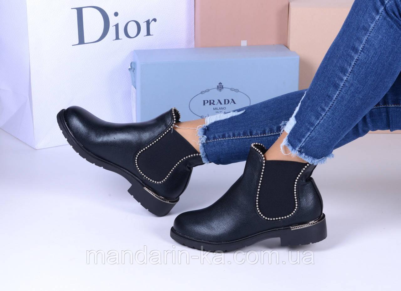Женские ботинки черные  челси