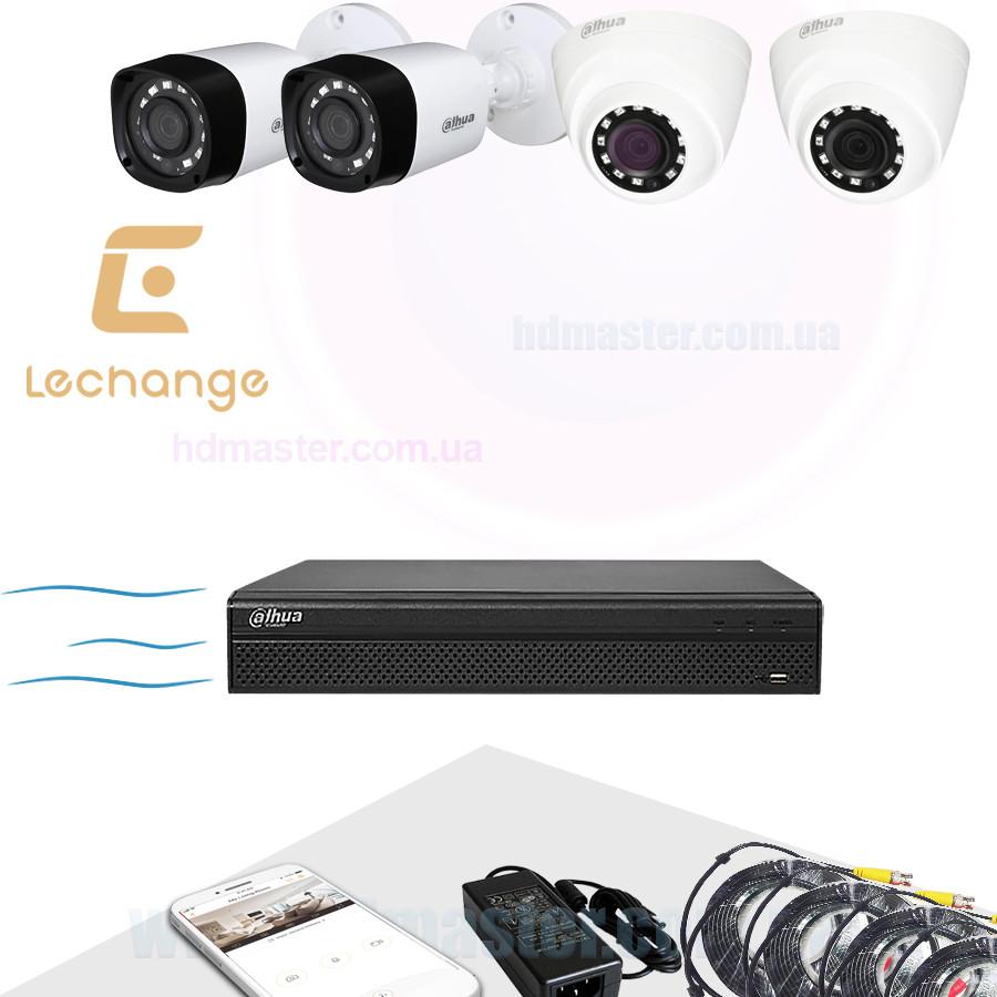 Комплект видеонаблюдения Dahua Full HD KIT-CV4FHD-2B/2D