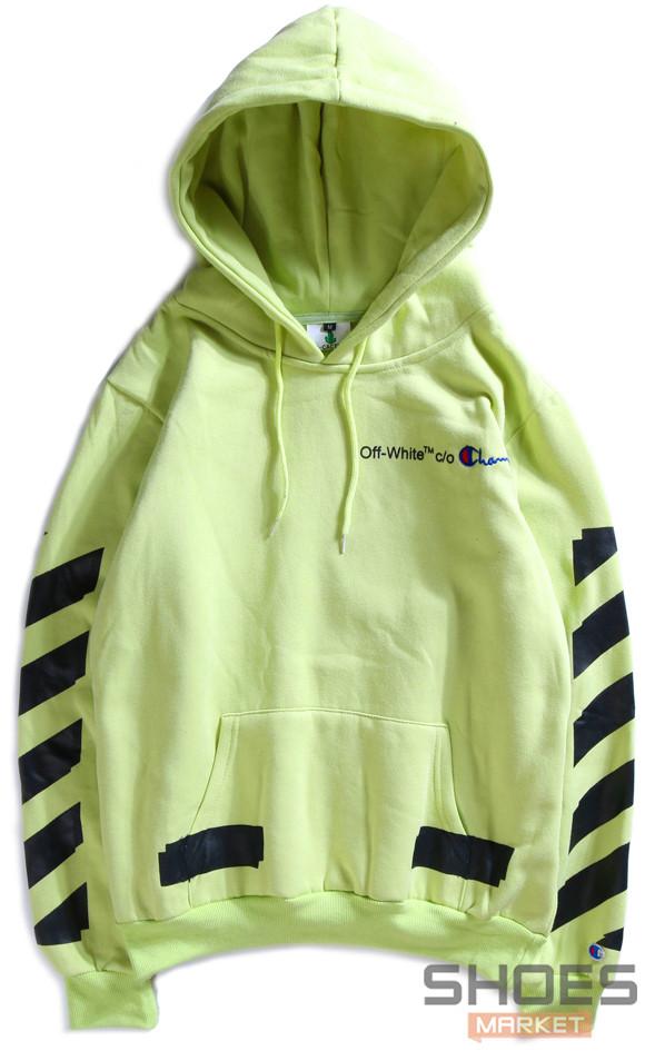 Худи Off-white Light Green (ориг.бирка)