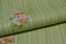 Обои, на стену, цветы, зеленые, виниловые, B49.4 Палома C867-04,супер-мойка, 0,53*10м, ограниченное количество, фото 2