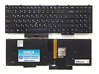 Оригинальная клавиатура для ноутбука Lenovo ThinkPad P50, ThinkPad P70 series, rus, black, подсветка