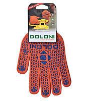 Перчатки рабочие трикотажные (плотные) с ПВХ точкой Doloni №526