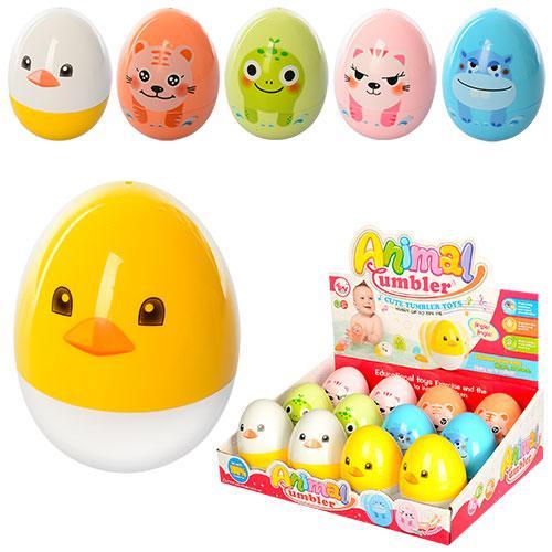 Неваляшка 5006-C  яйцо, 9,5см, звук, 12шт(6видов) в дисплее,33-25,5-11