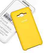 Силиконовый чехол на Samsung G530/G531H Grand Prime Soft-touch Yellow