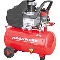 Компрессор воздушный KD 24/200, 1.5 кВт, 198 л/мин, 24 л, KRONWERK